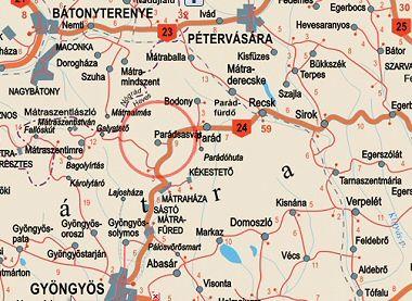 parádsasvár térkép Parádsasvár, apartman megközelítés parádsasvár térkép